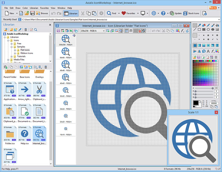 Click to view Axialis IconWorkshop 6.80 screenshot